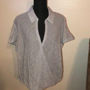 Plus size short sleeve blouse very cute XXL